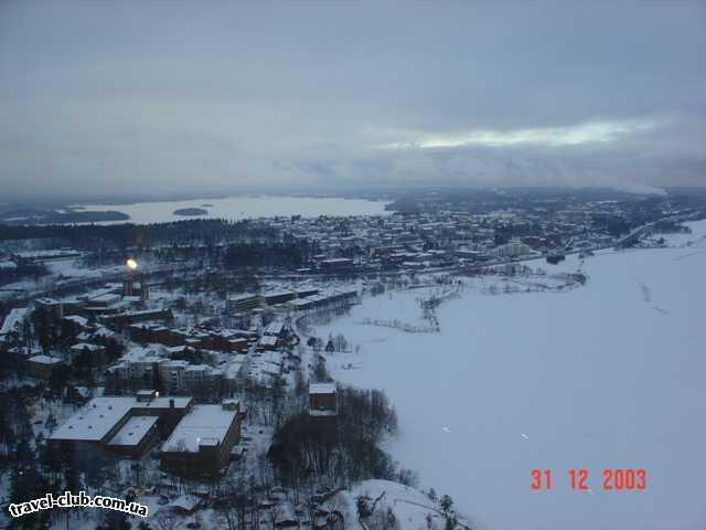 Финляндия  Ювяскуля  Вид со смотровой башни г.Ювяскуля