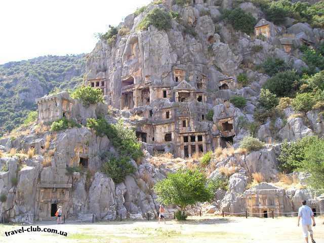 Турция  Экскурсии  Мира-Кекова  Кеково - амфитеатр и захронения в скалах