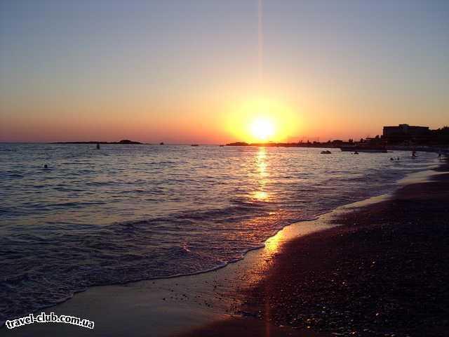 Турция  Алания  Riva Club N  4*    Закат на море