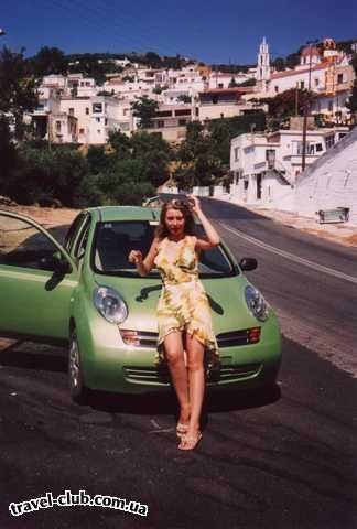 Греция  Крит, Ираклион  Я, машина и критская деревушка