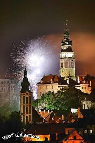 Чехия  Южная Чехия  Ночные торжества Чешский Крумлов www.Korsarclub.com