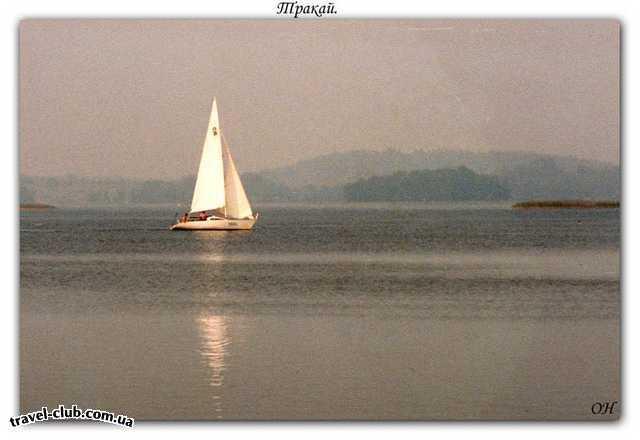 Литва  Тракай. Озеро Гальве.