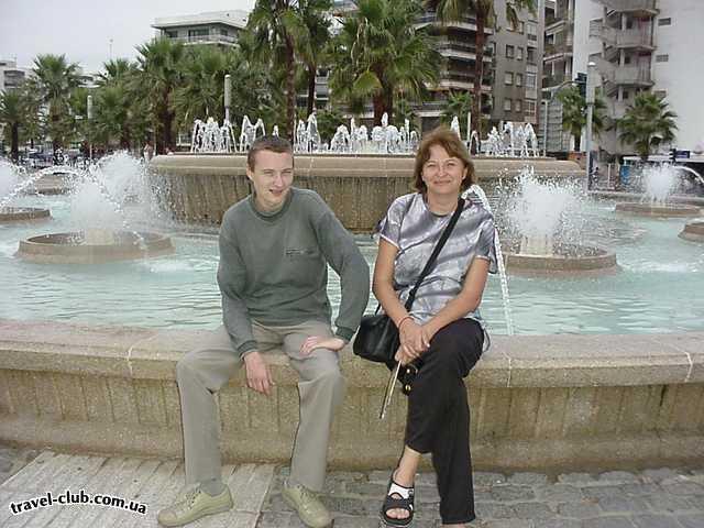 Испания  Салоу. Фонтан на набережной