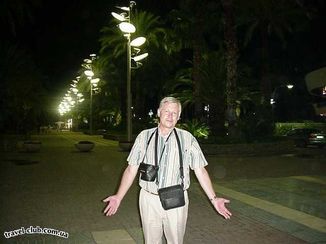 Испания  Набережная Салоу ночью